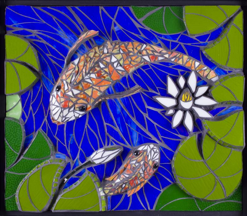 incredible Koi Mosaics Part - 3: Criativa Arts - Contemporary Glass Mosaics In addition to 2D wall panels  and installations, see these new 3D-High Relief Glass Mosaics:Birch Forest,  Koi ...